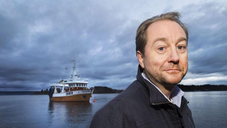 Der zukünftige Besitzer des Schiffes, Kjell Inge Røkke, zählt zu den reichsten Norwegern und leitet die Aker ASA Gesellschaft. Er begann als Fischer und arbeitete viele Jahre in den USA vor seiner Rückkehr nach Norwegen, wo er die Gesellschaft gründete. Credit: Helge Mikalsen VG